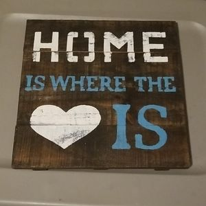 Home is where the heart is home decor 12 x 12 in